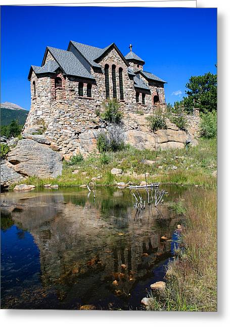 Chapel On The Rock Photographs Greeting Cards - Divine Reflection Greeting Card by Paul Moore