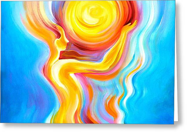 Divine Reflection Greeting Card by Gem J Shimada