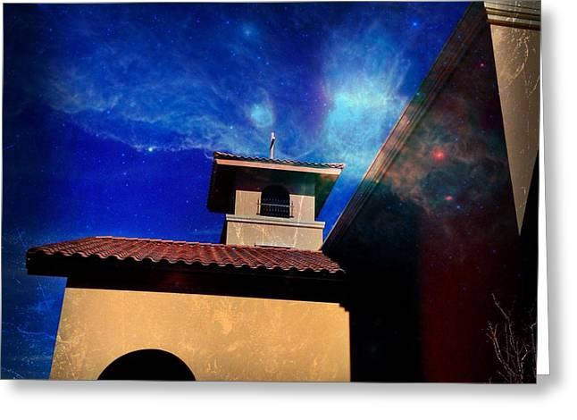 Saint Jude Greeting Cards - Divine Spark Greeting Card by Mark David Gerson