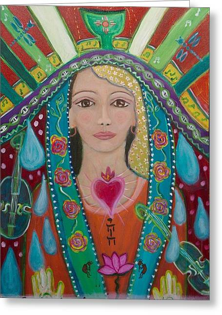 Divine Spark Of Creativity Greeting Card by Havi Mandell
