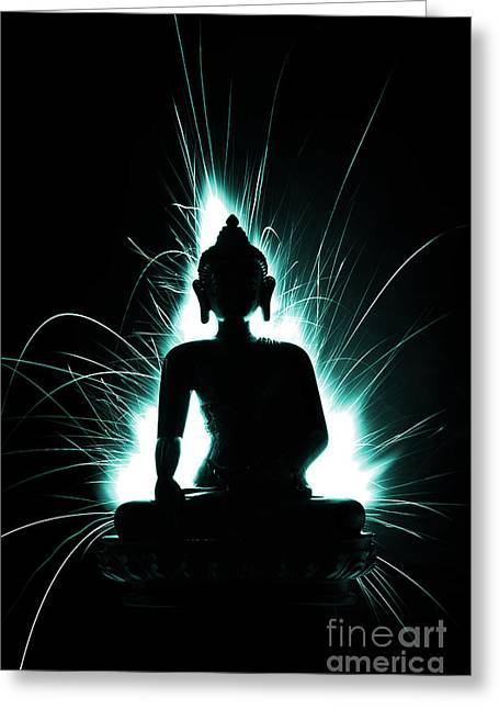 Meditate Greeting Cards - Divine Spark Greeting Card by Tim Gainey