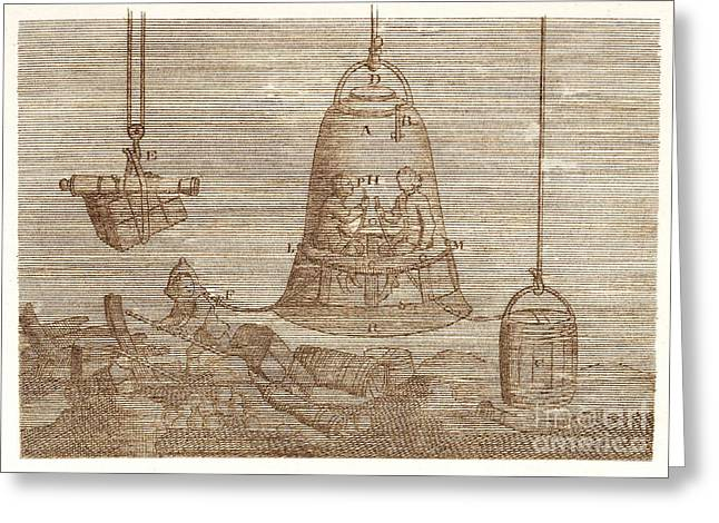 Diving Bell Greeting Cards - Diving Bell Greeting Card by David Parker