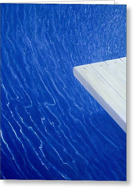 Inviting Greeting Cards - Diving Board 2004 Greeting Card by Lincoln Seligman