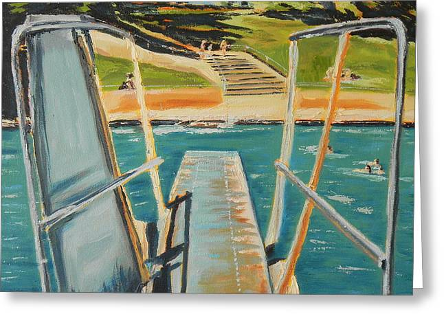 Diving Board Greeting Cards - Diving Board Greeting Card by Connie Taylor