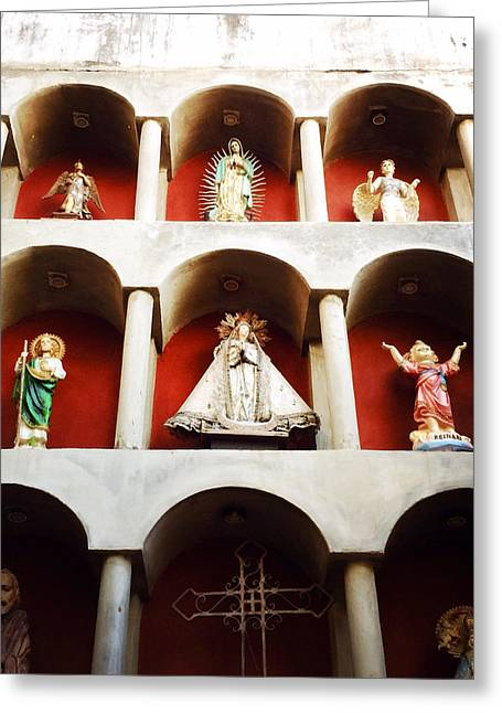 Religious Photographs Greeting Cards - Divino Greeting Card by Natasha Marco
