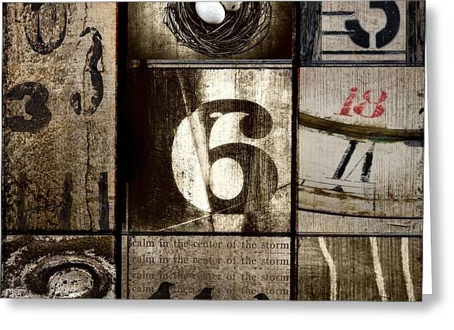 Divisible By Three Greeting Card by Carol Leigh