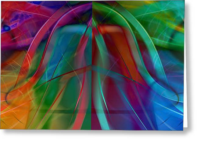 Geometric Digital Art Greeting Cards - Division Bell Greeting Card by Robin Curtiss