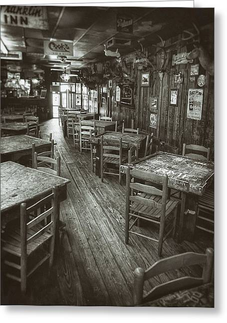 Monochromatic Greeting Cards - Dixie Chicken Interior Greeting Card by Scott Norris