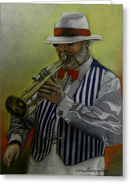 Instruments Pastels Greeting Cards - Dixie Music Man Greeting Card by Sandra Sengstock-Miller