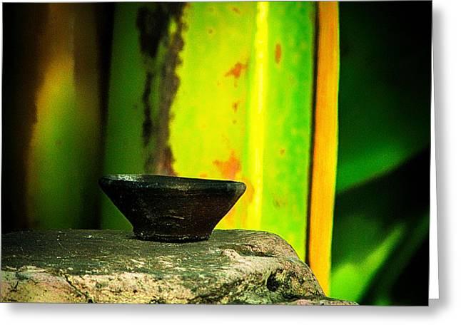 Oil Lamp Greeting Cards - Diya Greeting Card by Prakash Ghai