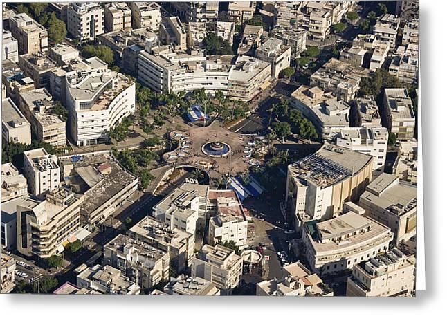 Ofir Ben Tov Greeting Cards - Dizengoff Plaza, Tel Aviv Greeting Card by Ofir Ben Tov
