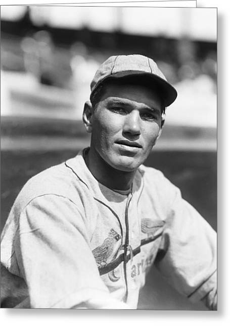 Hall Of Fame Greeting Cards - Dizzy Dean Close Up Greeting Card by Retro Images Archive