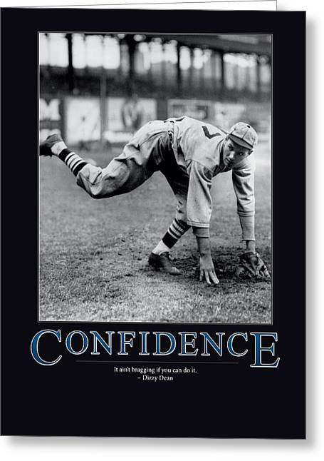 Dizzy Greeting Cards - Dizzy Dean Confidence  Greeting Card by Retro Images Archive