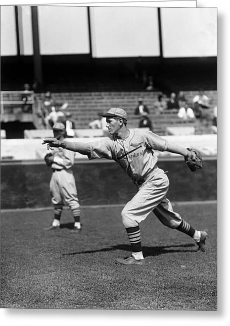 Hall Of Fame Greeting Cards - Dizzy Dean Follow Through Greeting Card by Retro Images Archive