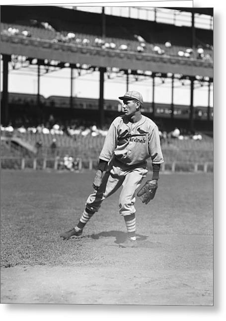 Retro Antique Greeting Cards - Dizzy Dean Pitching Follow Through Greeting Card by Retro Images Archive