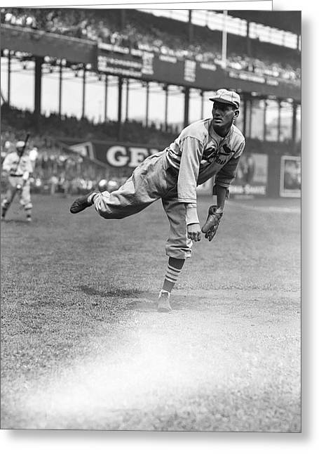 Famous Photographer Greeting Cards - Dizzy Dean Pitching Greeting Card by Retro Images Archive