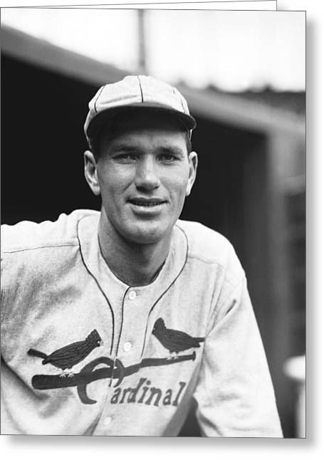 Hall Of Fame Greeting Cards - Dizzy Dean Smile Greeting Card by Retro Images Archive