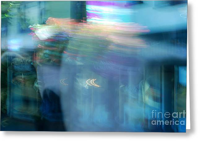 Obligation Greeting Cards - Dizzy Life Abstract Greeting Card by Connie Fox