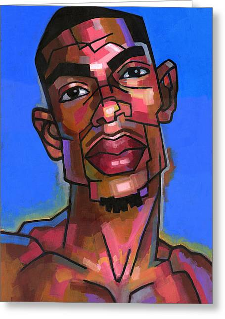 Character Portraits Greeting Cards - Dj Greeting Card by Douglas Simonson
