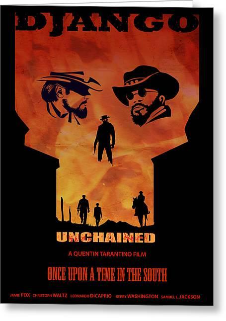 Django Unchained Alternative Poster Greeting Card by Sassan Filsoof