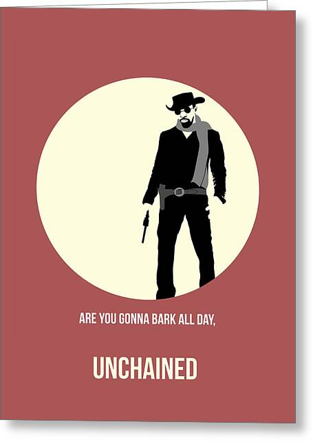 Shows Greeting Cards - Django Unchained Poster 2 Greeting Card by Naxart Studio