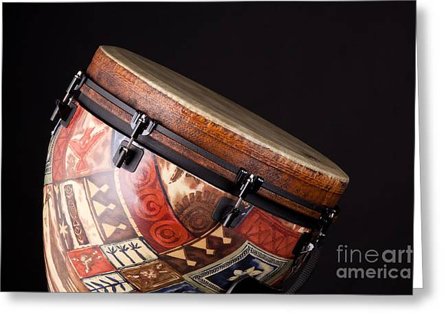 African Heritage Greeting Cards - Djembe Latin or African drum Photograph in Color 3331.02 Greeting Card by M K  Miller