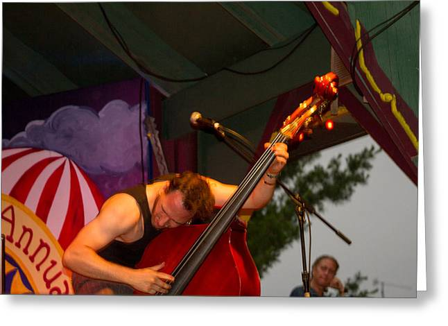 Blissfest Greeting Cards - Djordje Stijepovic of Fishtank Ensemble Greeting Card by Bill Gallagher