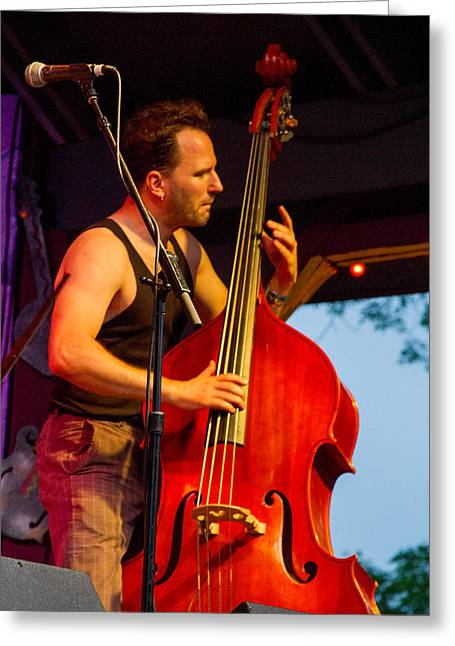 Live Music Greeting Cards - Djordje Stijepovic of Fishtank Ensemble II Greeting Card by Bill Gallagher