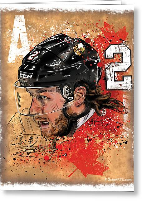 Sportsart Greeting Cards - Dk2 Greeting Card by Michael Figueroa