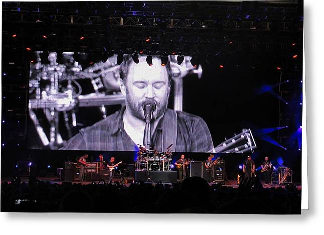 Dave Matthews Band Concert Greeting Cards - DMB Live Greeting Card by Aaron Martens