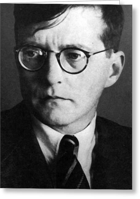 Shot Glass Greeting Cards - Dmitri Shostakovich Greeting Card by Unknown