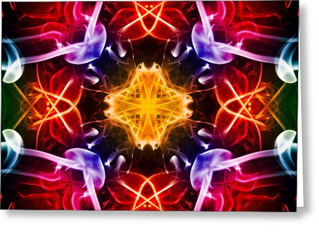 Algorithmic Abstract Greeting Cards - Dna 2 Greeting Card by Steve Purnell