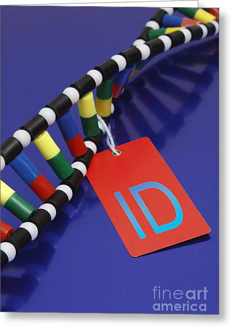 Dna Double Helix, Id Tag Greeting Card by GIPhotoStock