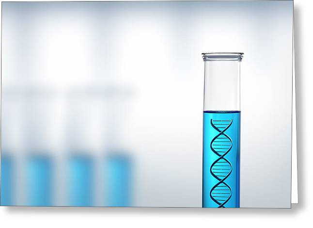 DNA research or testing in a laboratory Greeting Card by Johan Swanepoel