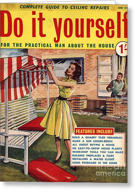 Twentieth Century Greeting Cards - Do It Yourself 1959 1950s Uk Magazines Greeting Card by The Advertising Archives