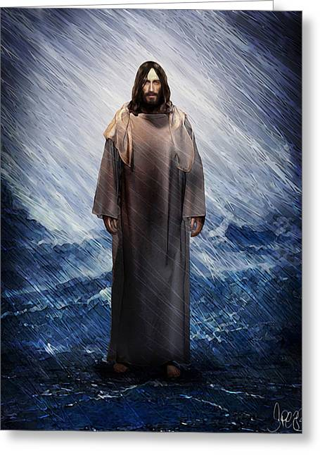 Christ Walking On Water Greeting Cards - Do Not Fear Greeting Card by Mark Spears