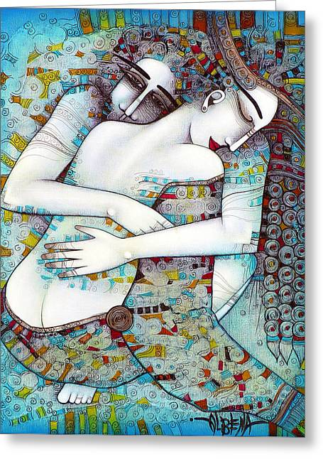 Blues Art Greeting Cards - Do Not Leave Me Greeting Card by Albena Vatcheva