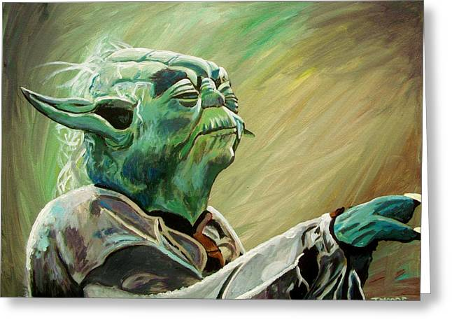 Do Or Do Not    There Is No Try Greeting Card by Jeremy Moore
