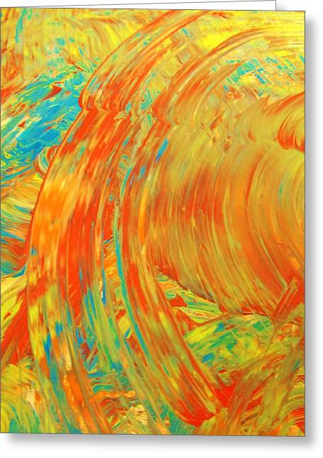 Blue Abstracts Greeting Cards - Do The Right Thing Greeting Card by Artist Ai