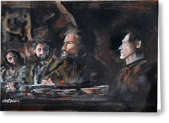 Last Supper Mixed Media Greeting Cards - Do This In Remembrance of Me Greeting Card by Seth Weaver
