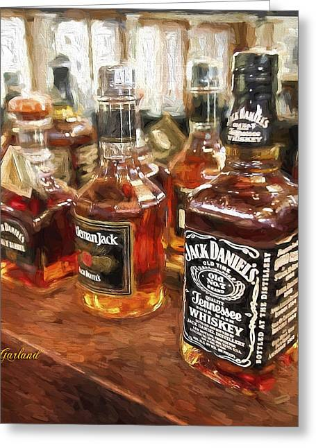 Booze Mixed Media Greeting Cards - Do You Know Jack? Greeting Card by Garland Johnson