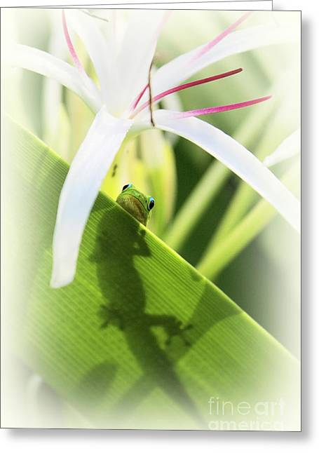 Geckos Greeting Cards - Do You Mind Greeting Card by Ellen Cotton
