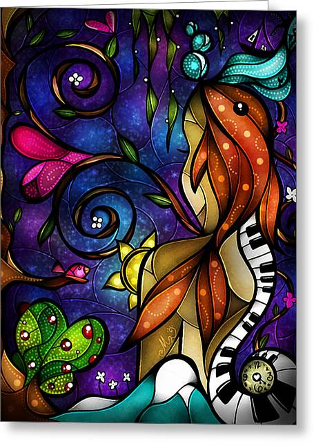 Music Time Greeting Cards - Do you remember when we met Greeting Card by Mandie Manzano