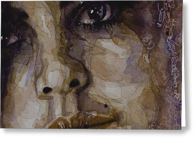 Emotions Greeting Cards - Do You Think Of Her When Your With Me Greeting Card by Paul Lovering