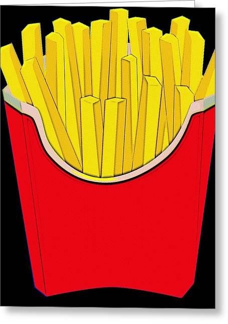 Fries Digital Greeting Cards - Do You Want Fries With That Greeting Card by Florian Rodarte