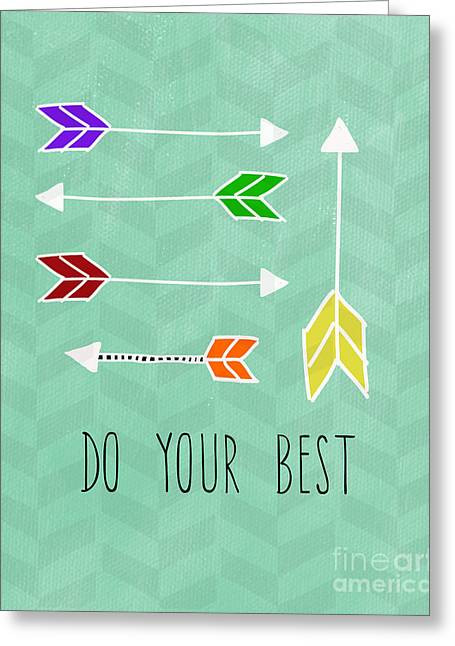 Do Your Best Greeting Card by Linda Woods