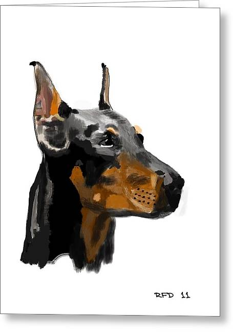 Owner Digital Greeting Cards - Doberman Greeting Card by Bob Donner