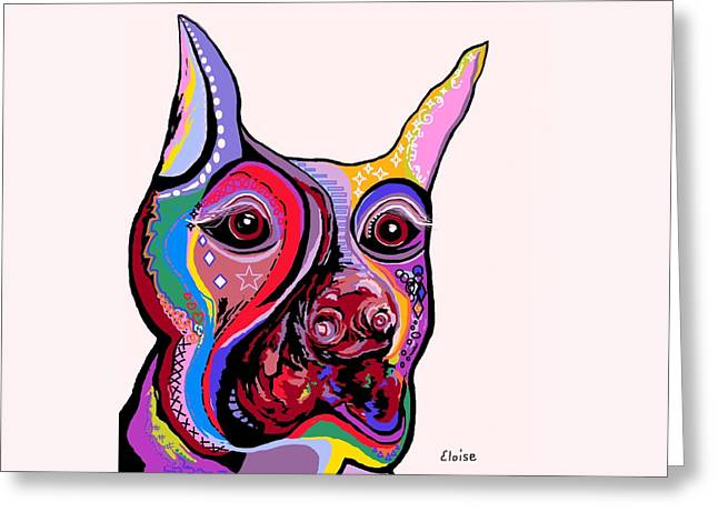 Bright Colors Greeting Cards - Doberman Greeting Card by Eloise Schneider