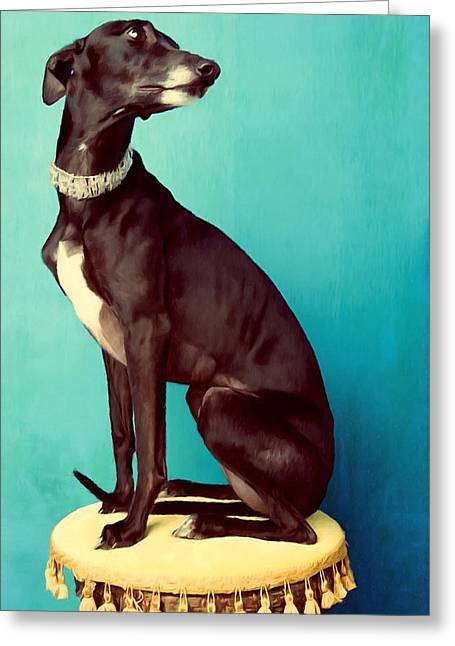 Growling Paintings Greeting Cards - Doberman pinscher dog 1 Greeting Card by Lanjee Chee