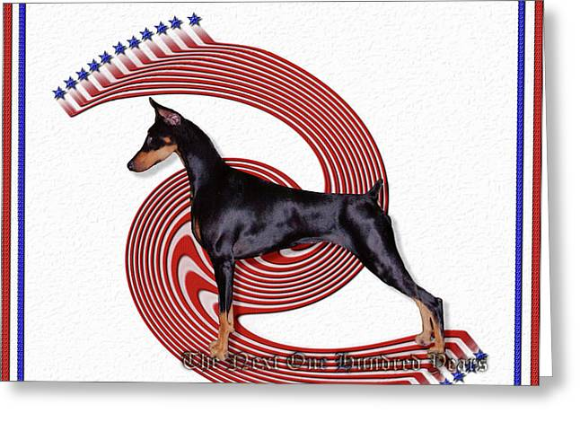 Dobermanns Forever - The Next One Hundred Years Greeting Card by Rita Kay Adams